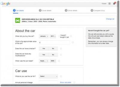 Google Jajaki Bisnis AsuransiMobil
